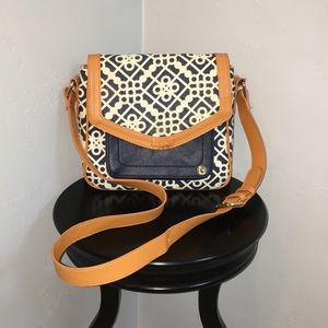 Spartina 449 Leather & Linen Shoulder Bag